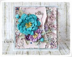 Scrap Art by Lady E: Card with Prima Flower