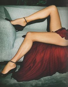 Vogue Paris October 2012Half of Kate Moss in Gucci and Christian Louboutins by Mario Testino