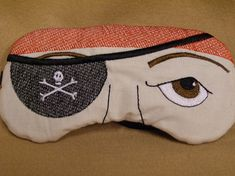 Embroidered Eye Mask Sleep Mask Sleeping Kid by MadeByMeEmbroidery, $12.00