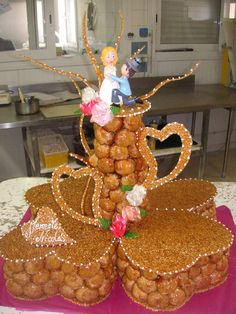Pièces montées – Baba E Clair French Wedding Cakes, Wedding Cakes With Flowers, Beautiful Wedding Cakes, Croquembouche, Surprise Wedding, Sugar Craft, Take The Cake, Candy Table, Eclairs