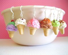 That is one creative title... I was commissioned to come up with 6 ice cream cones for someone on Etsy the other day. Two had to be a mint chip and a strawberry cone (the strawberry because I wante...