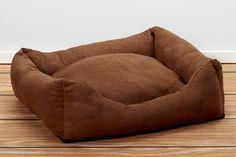 Luxury Swaddlez Bolster Pet Beds - Cocoa