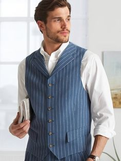 Wool blend notch lapel vest paul frederick