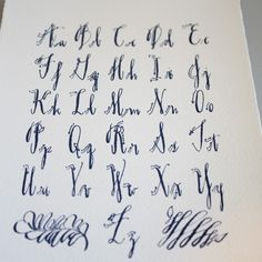 calligraphy alphabet by rhonda