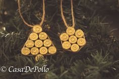 Clean .40 Spent Brass Christmas Ornaments, Ammo Ornaments, Spent Brass Ornaments, Bullet Ornaments, Ammo Christmas Ornaments by CasaDePolloCrafts on Etsy