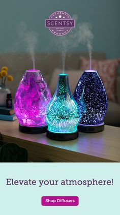 Make a statement with striking diffuser designs and all-natural fragrance delivered instantly in a swirl of color and light. - When on, our diffusers immediately fill your space with stunning, artisanal scent. - Set the mood with 16 dazzling colorful LE My New Room, My Room, Spanish Style Homes, Aesthetic Room Decor, Room Inspiration, Diy Home Decor, Cool Things To Buy, Bedroom Decor, Fragrance