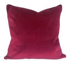 Pink Velvet Decorative Pillow Cover Throw by PillowTimeGirls Toss Pillows, Accent Pillows, Blue Bedroom, Velvet Pillows, Pink Velvet, Decorative Pillow Covers, Lush, Berry, Hot Pink