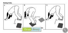 Donkey Kicks-bilateral coordination-balance-sensory processing.  Pinned by SOS Inc. Resources http://pinterest.com/sostherapy.