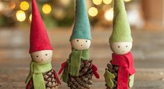 O man, if you are looking for something really cute and adorable to make, then these Pine Cone Elves are totally for you. Just look at those cute little elf faces, aren't they adorable? I love that this holiday craft uses practical stuff to make something so awesome. I can just picture these little elves …