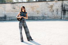 Gala González (The Locals) Gala Gonzalez, Tartan, Plaid, Office Fashion, Paris Fashion, The Clash, Ss16, The Locals, Cool Kids