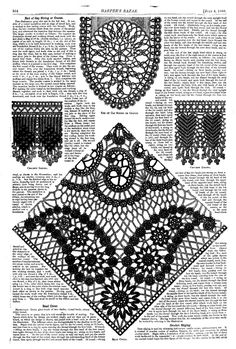 Tatting and Crochet Patterns: Harper's bazaar: Volume I, Number 36, pg 564