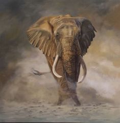 """29. Sarara's Dusty Giant</br>Oil on Canvas </br> 59 x 59 inches (149.9 x 149.9 cms)  </br> £8,000.00 </b> <strong> <b><span style=""""color:#8b0000;"""">SOLD</span></b></strong>"""