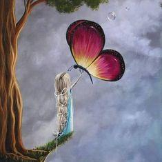 Ive Freya — Shawna Erback Art And Illustration, Fantasy Kunst, Fantasy Art, Regard Animal, Beautiful Fairies, Butterfly Art, Butterflies, Art For Art Sake, Angel Art
