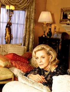 Lauren Bacall as Madame Lestraude (aka Mary Lester)...once an exotic beauty, now wearing too many regrets.