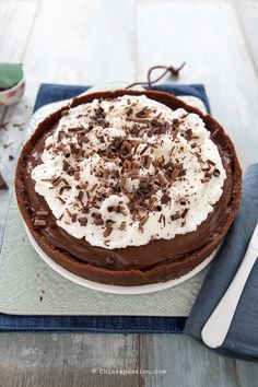 Mississippi mud pie: Torta al cioccolato Americana Mississippi Mud Pie, American Cake, Cheesecakes, Cake Cookies, Cake Decorating, Healthy Recipes, Healthy Food, Sweets, Chocolate