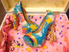 Care Bears Shoes by MarieAntoinettes on Etsy, £45.00