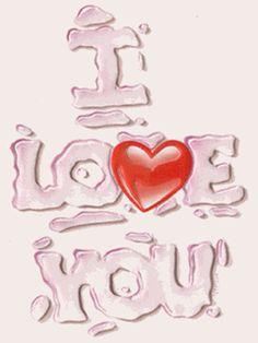 Mensajes de Amor con Corazones.