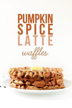 Pumpkin Spice Latte Waffles! via minimalistbaker.com