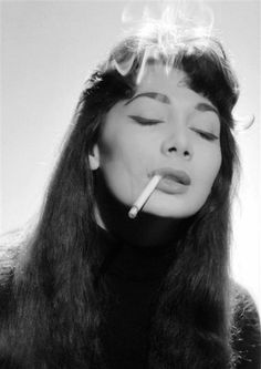 Juliette Greco, 1963, a portrait by Jerry Schatzberg (please follow minkshmink on pinterest)