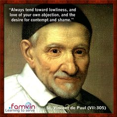 Daily Quote - St. Vincent de Paul #quotes #VincentDePaul #famvin
