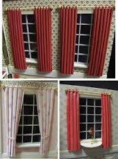 Image result for how to make miniature drapes for dollhouse