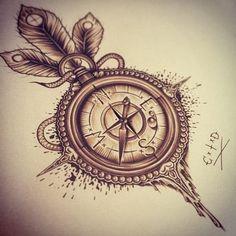 compass rose tattoo - Pesquisa Google