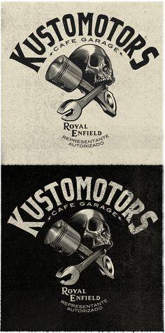 Diseño de marca para KUSTOMOTORS México.https://www.facebook.com/KUSTOMOTORS?fref=ts