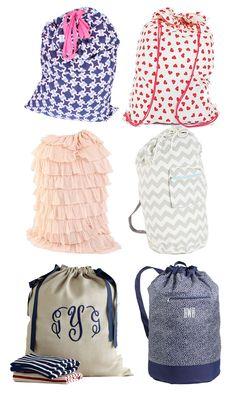 College Prep: Preppy Laundry Bags
