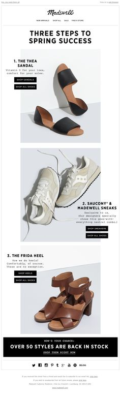 """Madewell - Three """"yes"""" shoes"""