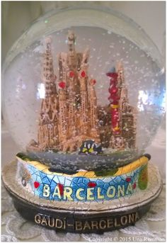 A snow globe from Barcelona, Spain.