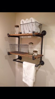 The Ridgewood Double Hanging Shelf No assembly by MonroeTrades, $299.00 Shelving