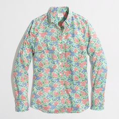 Factory classic button-down shirt in printed cotton : Washed Shirts | J.Crew Factory