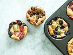 A blender, a pan, and a plan, and you've got pillowy muffins ready to be devoured in a 15-minute snap. We've been seeing different types ...
