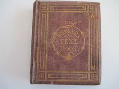 The Smokers Text book printed 1870