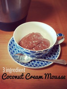 3 Ingredient coconut cream chocolate mousse - added sugar free (has fructose from the banana), gluten free, dairy free - easy to make in your thermomix with Loulou Zoo