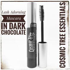 Lash Adorning Mascara in Black Ink — Cosmic Tree Essentials Mascara, Eyeliner, Acacia Gum, Mineral Cosmetics, Iron Oxide, How To Apply Makeup, Cruelty Free, Cosmic, Chocolates