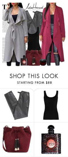 """""""Julia Howard Collection"""" by gaby-mil ❤ liked on Polyvore featuring Lafayette 148 New York, Twenty, Loeffler Randall, Yves Saint Laurent, coat and juliahoward"""
