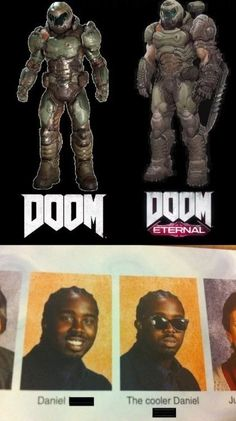 as if doom wasnt cool enough Video Game Memes, Video Games Funny, Funny Games, Funny Gaming Memes, Gamer Humor, Really Funny Memes, Stupid Funny Memes, Doom Game, Slayer Meme