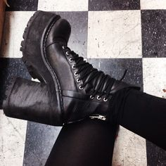 DIAMANTE Diamante in the @unif Choke Leather Boot #platform #laceup #badass || Get the boots: http://www.nastygal.com/product/unif-choke-leather-boot?utm_source=pinterest&utm_medium=smm&utm_term=ngdib&utm_content=omg_shoes&utm_campaign=pinterest_nastygal