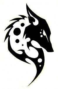 Tribal Fox Tattoo Designs