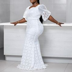 Latest African Fashion Dresses, African Dresses For Women, African Attire, African Wear, Lace Dress Styles, Bodycon Dress Parties, Mode Style, Aichi, Office Ladies