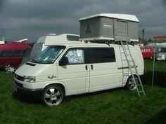 Roof top tent thing? - VW T4 Forum - VW T5 Forum Eurovan Camper, T4 Camper, Vw T5, Volkswagen, Caravan Van, Vw Caravelle, Converted Vans, T4 Transporter, Roof Top Tent