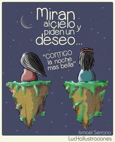 Amores imposibles - Ismael Serrano  www.facebook.com/luchailustraciones Film Music Books, Romantic Quotes, Carpe Diem, Lyrics, Songs, Motivation, Feelings, Happy, Play