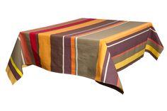 nappe st laurent de cerdans Laurent, Decoration Table, Ottoman, Upholstery, Fabric, Furniture, Home Decor, Fabrics, Table Linens