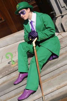 Female Riddler Costume | popecerebus as the Riddler (and yes, this is crossplay but its good)