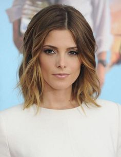Beautiful ombré lob cut