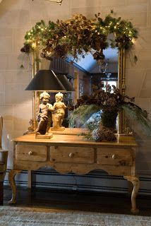Romancing the Home. I have this set up and get so many compliments. I use a large cherry buffet instead.