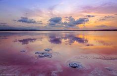 Sunset on the salt lake by José Ferrando on 500px