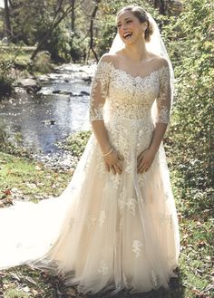 0e8759ce2862 Maggie Bride: Kara Marie Burgess in lace wedding dress BREE | Maggie  Sottero Romantic Wedding