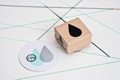 Lovely #rain #drop #stamp by Miss Honeybird from www.kidsdinge.com https://www.facebook.com/pages/kidsdingecom-Origineel-speelgoed-hebbedingen-voor-hippe-kids/160122710686387?sk=wall